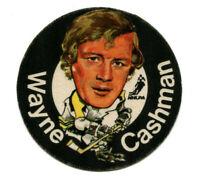 1973/74 Mac's Milk Wayne Cashman Cloth Sticker Boston Bruins