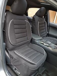 Pair New Comfort Lumbar Support 3D Airbag Seat Cushion Cover For Nissan Navara