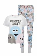 BRAND NEW LADIES EX-PRIMARK MONSTER PARTY PYJAMAS SIZE: X-SMALL up to X-LARGE