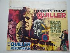 QUILLER MEMORANDUM Belgian movie poster ALEC GUINNESS RAY ELSEVIERS Art 1967