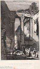 Roma: Ruinas en Mercado del pescado. Acero. Imprimir Antigua+Passepartout. 1838