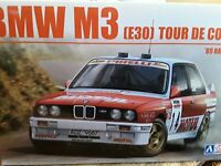 BMW M3 E30 1989 TOUR DE CORSE RALLY ,2 DECAL OPTIONS  ,1/24 PLASTIC KIT BEEMAX