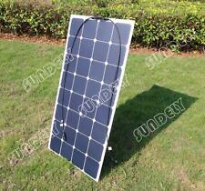 New Semi Flexible SUNPOWER Solar Panel  18V 100W RV Boat Marine Battery