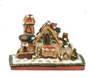 Dolls House Miniature Snowy Gingerbread House Christmas Accessory Decoration
