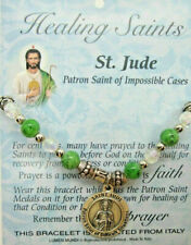 Healing Saints Stretch Charm Bracelet St Jude Difficult Situations w Gift Box