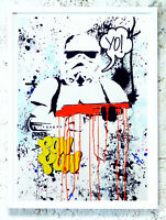 JP Malot YO! Stormtrooper. (Orange handfinished Signed)! No obey, Banksy, Seen,