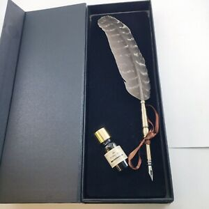 Calligraphy Quill Feather Pen Set New With Black Ink