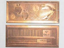 07F43 ANCIENNE MATRICE IMPRIMERIE PUBLICITAIRE BIJOUTERIE ROWI RODI&WIENENBERGER