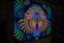 """BLACKLIGHT TAPESTRY """"Ganeshua"""" - Psychedelic backdrop, trippy tapestry, uv art"""
