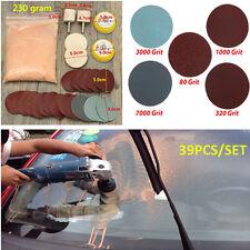 39PCS Car Deep Scratch Remover+Glass Polishing Kit +8 OZ Cerium Oxide +2'' Wheel