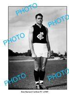OLD LARGE PHOTO RON BARASSI CARLTON FC CHAMPION c1965