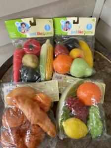4 Packages Just Like Home Play Fruits Veggies and Breads NIP Ship FREE