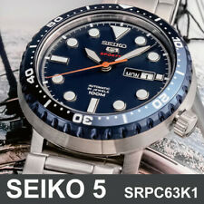 SEIKO 5 SRPC63K1 Sports Bottle Cap Automatic 45mm Stainless Steel Mens Watch