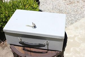 Steel Fire-Resistant Security Box with Key Lock