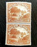 GB CW SOUTH AFRICA PICTORIAL 1932 SG46 SCOTT 40 VERTICAL PAIR UPRIGHT WATERMARK