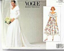 Vogue Sewing Pattern 2768 Wedding Dress 12-16 Ladies Bridal Original UNCUT