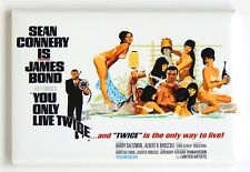 You Only Live Twice FRIDGE MAGNET (2 x 3 inches) quad movie poster james bond