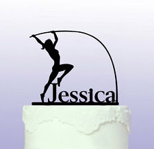Pole Vaulting Female Personalised Cake Topper