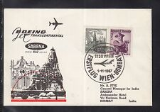 W 05 ) beautiful FFC /First Flight 1967  SABENA  Austria Wien to Bombay India