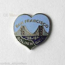 I LOVE SAN FRANCISCO GOLDEN GATE BRIDGE PIN BADGE 1 inch