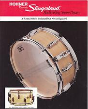 #MISC-0517 - VINTAGE SLINGERLAND RADIO KING SNARE DRUM ad sheet ( style 3 )