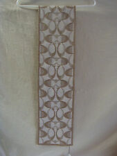 AUTH COACH BLING REVERSIBLE LOGO SCARF NEW IVORY & GOLD RETAIL $98