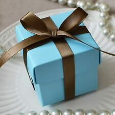 10 Baby Light Blue Favor Box Wedding Baby Shower Container Turquoise Gift Box