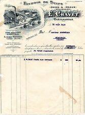 Châteauroux 36 - Fondoir de Suifs Cuirs & Peaux Mégisserie - E. Chavet - 1932