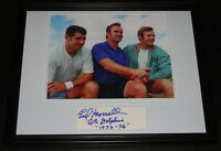 Earl Morrall Signed Framed 11x14 Photo Display w/ Don Shula & Bob Griese Dolphin