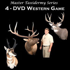 Learn Taxidermy Videos  4 DVD'S -Elk, Antelope, Mule Deer , European and Caping