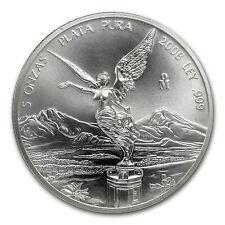 2008 Mexico 5 oz Silver Libertad BU - SKU #39362