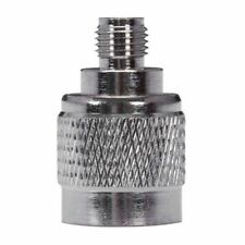 F Type Female to SMA Male Plug Coaxial Adapter Connector Silver Tone F5S9
