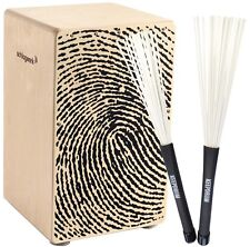 Schlagwerk CP107 X-One Fingerprint Cajon + KEEPDRUM SV603WH Brush