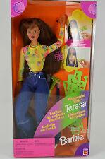 NIB-HAPPENIN' HAIR-TERESA-BARBIE DOLL-1998-INT'L CANADIAN BOX-COLOR CHANGE HAIR!