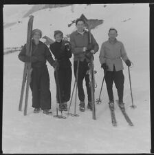 More details for 41 x vintage black & white negatives.c1940/50s skiing holiday.men & women