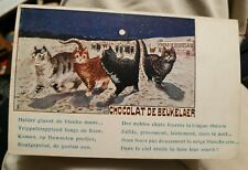 WAIN CATS CHOCOLAT DE beukelaer Advertising Postcard 1910 FRANCE rare