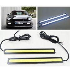 2pcs Waterproof 12V LED COB Car DRL Driving Daytime Running Lamp Fog LED Light