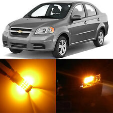 Alla Lighting Front Turn Signal Light 1157NA Amber LED Bulb for Chevy Aveo Aveo5