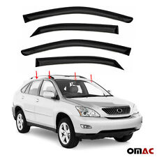 Window Visor Vent Sun Shade Rain Guard 4pcs Fits Lexus RX350 2009-2015