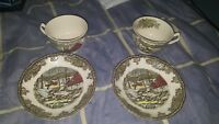Johnson brothers- the ice house the frindly village tea cup and saucers