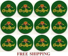 CROWN ROYAL REGAL APPLE CANADIAN WHISKY  SET OF 12  BAR SPILL MAT COASTERS NEW