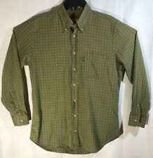 BARBOUR The Country Shirt Green Check Long Sleeve Button Down Shirt Mens size M