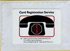 ADESIVO STICKER VINTAGE TELEFONO CARD REGISTRATION SERVICE 1 STOP