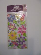 STICKO FANCIFUL FLOWERS SCRAP BOOK STICKERS