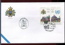"32729) SAN MARINO 1992 FDC ""Ufficiale San Marino"" ONU - UNO"