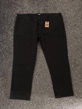 Jacamo Men's Black Chino Trousers Stretch W50 L31 BNWT