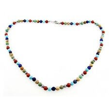 Southwestern Gemstone Necklace with Sterling Silver Made in USA