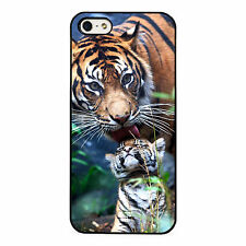Tiger and Cub plastic phone case fits iPhone