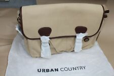 """Urban Country Sand Canvas Laptop/Tablet Bag Twin Pocket 15.5"""""""