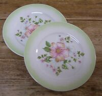 Tracy Porter Cottage Trellis Collection 2 Salad Plate Pink Flowers Floral